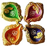 Art With Emphasis Traditional Terracotta Diya (Set of 4)
