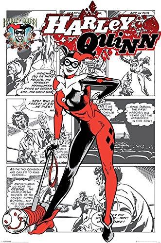 Harley Quinn alias Dr. Harleen Francis Quinzel Maxi Poster, in legno, colore: multicolore