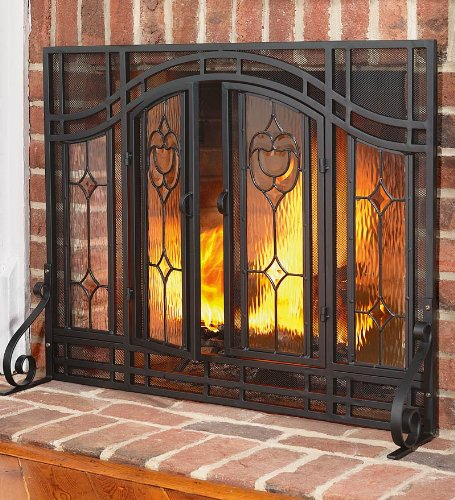 deals 2012 on large two door floral fireplace