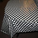 """Plastic Checkered Tablecover,54"""" x 108"""""""