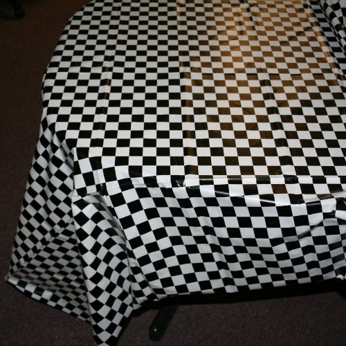 "Plastic Checkered Tablecover,54"" x 108"" - 1"