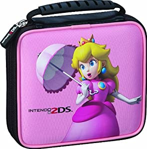 Pochette licenciee mario figurine peach pour nintendo 2ds for Housse 2ds mario