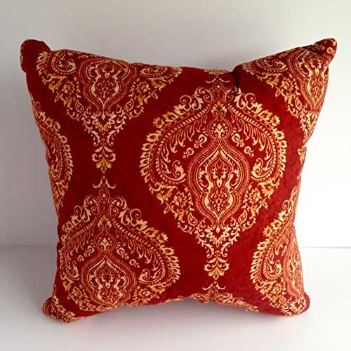 Red And Yellow Decorative Pillows : Amazon.com: Elegant Red and Yellow Gold Throw Pillow: Handmade