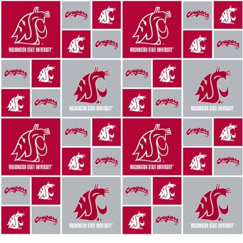 Washington State on Cotton Fabric - Sold By the Yard