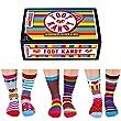 Foot Kandy Socken - Set mit 6 verschieden farbenen ungerade socken. Erwachsene: UK Größen 4-8 EUR 37-42, US 6.5-10.5