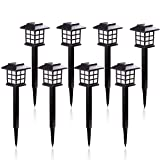 KODOO 8Pack Solar Pathway Lights Outdoor, Outdoor Garden Lights, Solar Pathway Lights, Outdoor Landscape Lighting for Lawn/Patio/Yard/Walkway/Driveway (Color: Black)