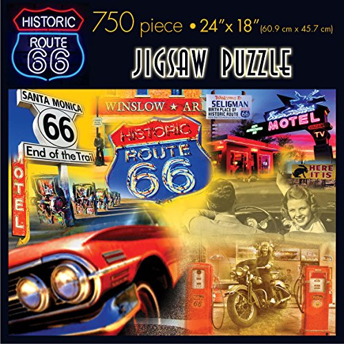 Americana Souvenirs and Gifts Route 66 Jigsaw Puzzle (750-Piece) - 1