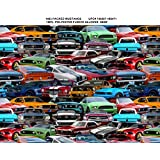 FORD MUSTANG FLEECE FABRIC- FORD MUSTANG FLEECE BLANKET FABRIC- SOLD BY THE YARD