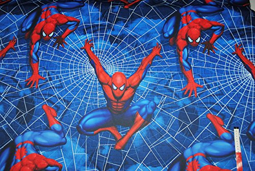 stoffe 1 m 1 5 m spiderman meterware polyester satin blickdicht spider man. Black Bedroom Furniture Sets. Home Design Ideas
