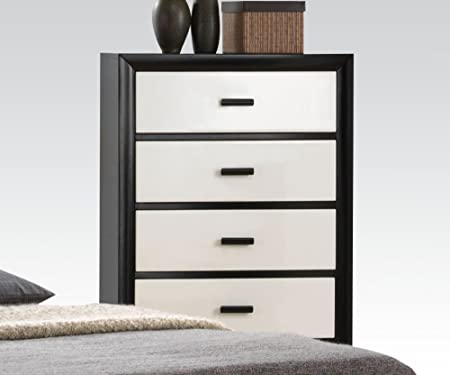 Debora Five Drawer Chest in Black/White by Acme Furniture