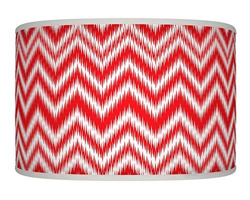 chevron-rosso-bianco-vintage-fatto-a-mano-stampa-giclee-motivo-geometrico-stile-tessuto-paralume-per