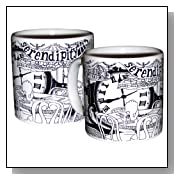 Serendipity 3 Black and White Mug