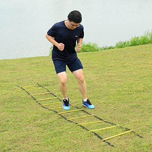 Ohuhu 12 Rung Speed Agility Ladder Training BONUS Black Carry Case