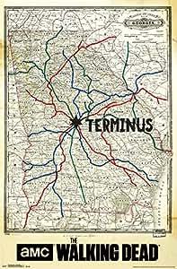 Amazon Com The Walking Dead Terminus Map