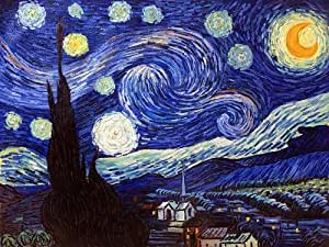 """Art Reproduction Oil Painting - Van Gogh Paintings: Starry Night - Extra Large 30"""" X 40"""" - Hand Painted Canvas Art"""