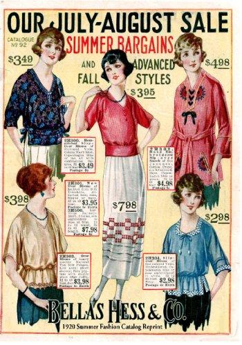 Bellas Hess & Co 1920 Summer Fashion Catalog Reprint