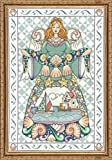 "Tobin 14 Count Seashell Angel Counted Cross Stitch Kit, 14"" by 20"""