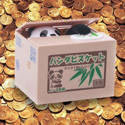 Coin Collecting Panda Bank! Cute Money Saving Bank for the Whole Family