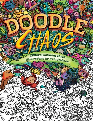 Doodle Chaos: Zifflin's Coloring Book (Volume 3) (Botanic Drawing compare prices)