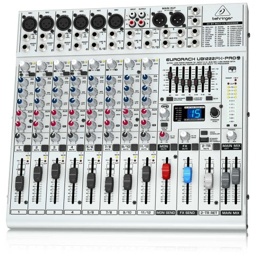 Behringer Ub1222Fx-Pro Ultra-Low Noise 16-Input 2/2-Bus Mic/Line Mixer With Premium Mic Preamplifiers And Effects