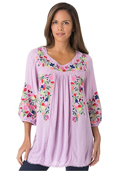 Plus Boho Clothing Roamans Women s Plus Size Boho