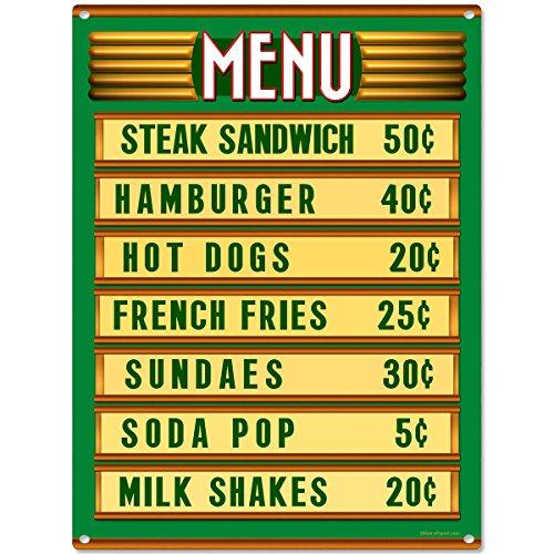 Vintage Diner Menu Board