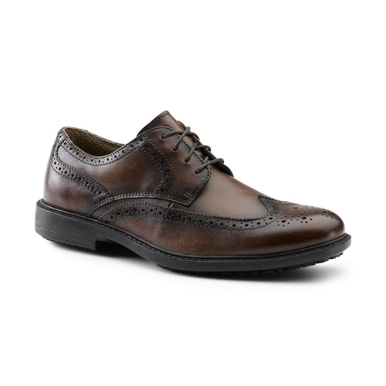 eee4e158d647 Dockers SureGrip Mens Russell Tan Wingtip Oxford Work Shoes 12M ...