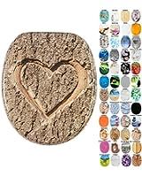 Abattant WC frein de chute soft close - Finition de haute qualité - Facile fixation (L'Amour Vrai)
