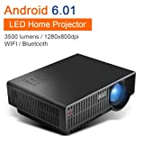 NewPal NP90C LED theater projector with WIFI bluetooth supported, 3500 lumens andriod digital projector for home cinema (Color: Np90cwifi)