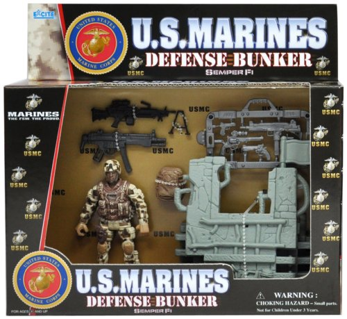 Marines USMC Defense Bunker with Action Figures ( figures may vary) - 1