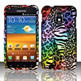 For Samsung Epic Touch 4G D710 / Galaxy S2 (Sprint) Rubberized Design Cover - Rainbow Safari
