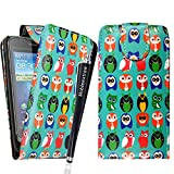 MobileExtraLtd® For Huawei Ascend G300 Stylish Printed Design Multi Birds Owls PU Leather Magnetic Protected Flip Case Cover + Stylus