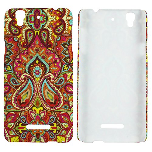 Heartly Aztec Tribal Art Printed Design Retro Color Armor Hard Bumper Back Case Cover For Micromax Yu Yureka Cyanogenmod - Colorful Mehndi