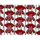 Raspberry Lips furnishing fabric (V&A Custom Print)