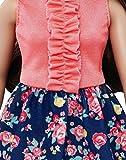 Mattel-Barbie-DMF28-Modepuppe-Fashionista-im-pinkblauen-Blumenkleid