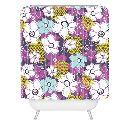 Deny Designs Heather Dutton Petals And Pods Orchid Shower Curtain front-575283