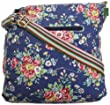 SwankySwans Girl's Kirsty Floral Print Crossbody Bag Grey SS01071