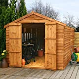 12ft x 8ft Overlap Apex Wooden Windowless Storage Shed - Brand New 12x8 Wood Sheds