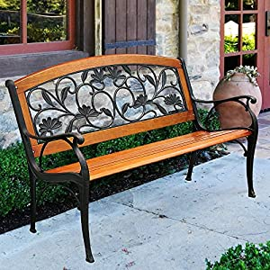Innova c13762 cast iron hardwood garden for Hardwood garden furniture