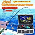 "Eyoyo 15M 7"" HD 800*480p Monitor 1000TVL Underwater Camera Ice/Sea Fishing Fish Finder With DVR Recording + Lights Control + 4GB Card + Keychain"