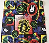 100% cotton BOB MARLEY REGGAE LEGEND bandana , (exclusively sold by deal from home, next day delivery from the U.K)multi coloured Bob Marley design Bandana