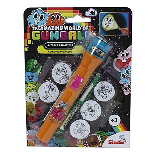 Gumball - Linterna proyector, color naranja (Simba 9419474)
