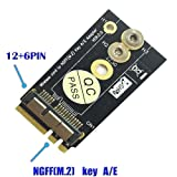 Hobbypower BCM94360CS2/BCM943224PCIEBT2 Card To NGFF(M.2) Key A/E Adapter For Mac OS