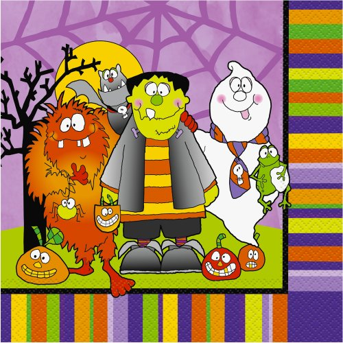 Little Monsters Halloween Luncheon Napkins, 16ct - 1