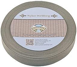 Country Brook Design® 1 Inch Foliage Green Lite Weight Nylon Webbing, 25 Yards