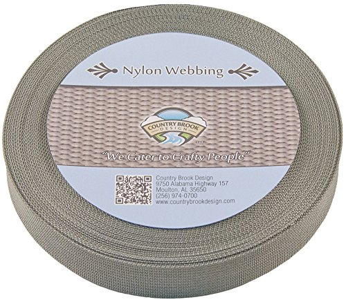 Country Brook Design® 1 Inch Red Polypro Webbing 100 Yards