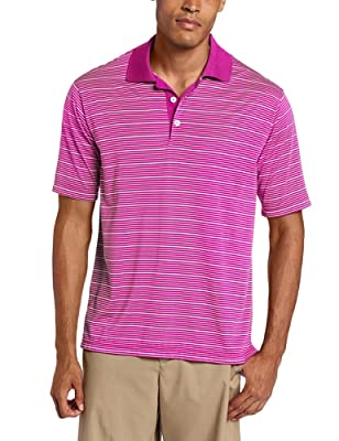 adidas Golf Men's Climalite Two-Color Stripe Polo Shirt