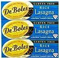 De Boles Gluten-Free Rice Pasta Lasagna, 10 oz, 3 pk by De Boles