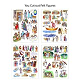 Story & Life Of Jesus 13 Bible Stories For Flannel Board You Cut Out Felt Figures