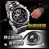 8GB デジタル腕時計 ビデオ&カメラ 防水型 写真画像度1280*960 小型ボイスレコーダー スパイカメラ 防犯